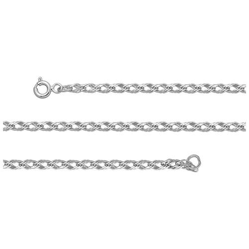 Silver Sterling Chain, Triple Rhomb 0.4 mm