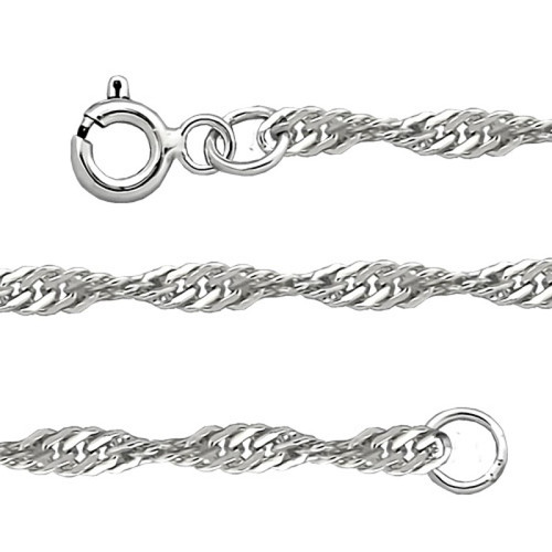 Silver Sterling Chain, Singapore 0.4 mm