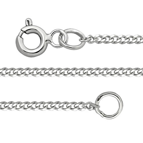 Silver Sterling Chain, Curb 0.4 mm