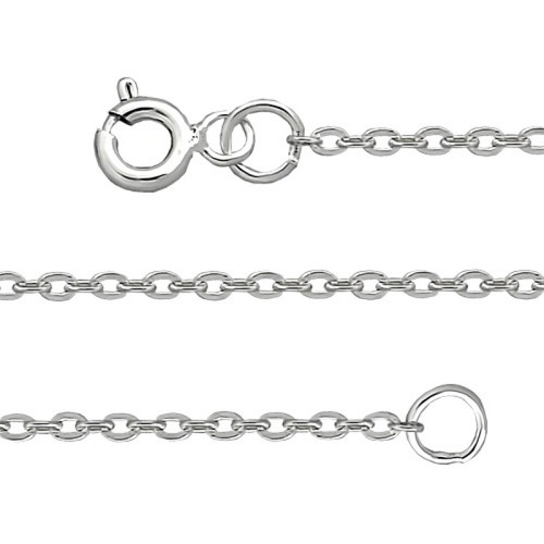 Silver Sterling Chain, Anchor 0.4  mm