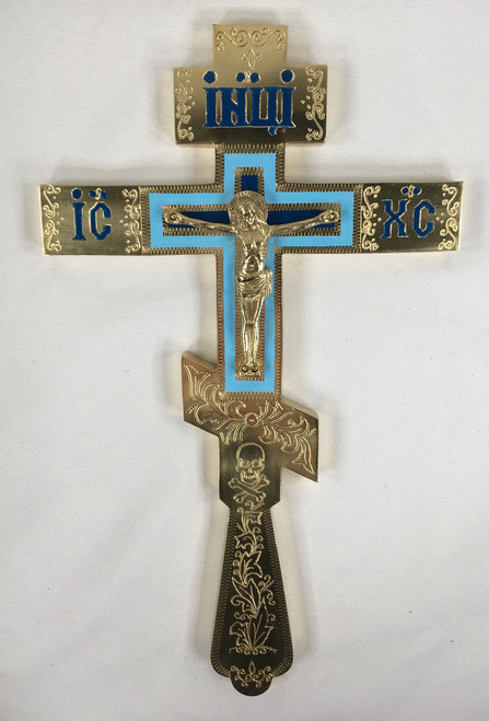 Blessing Cross (with blue accents)
