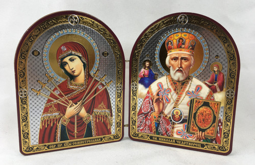 Small Diptych of the Theotokos and St Nicholas 1