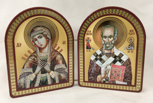 Small Diptych of the Theotokos and St Nicholas 2