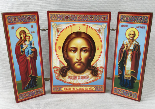 Small Triptych of the Lord, the Theotokos and St Nicholas