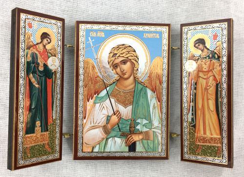 Small Triptych of the Guardian angel with angels