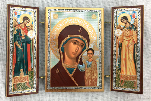 Small Triptych of the Theotokos with angels 1