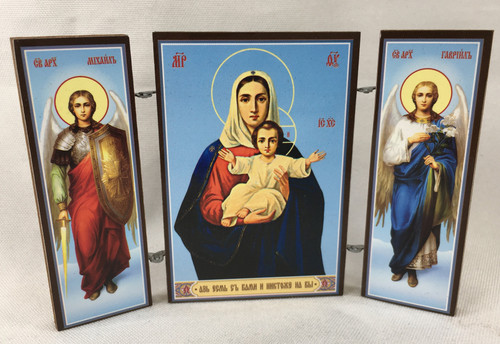 Small Triptych of the Theotokos with angels 2