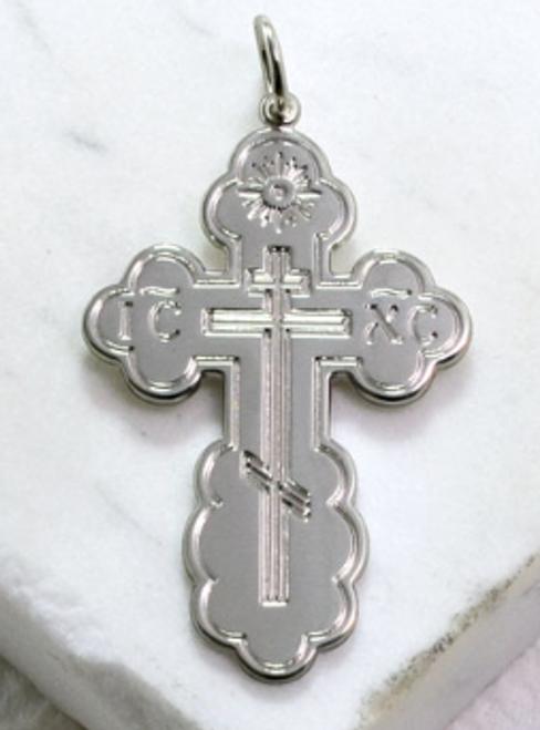 Sterling Silver St. Olga Cross (Large)