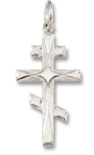 Sterling Silver St. Andrew Cross with design