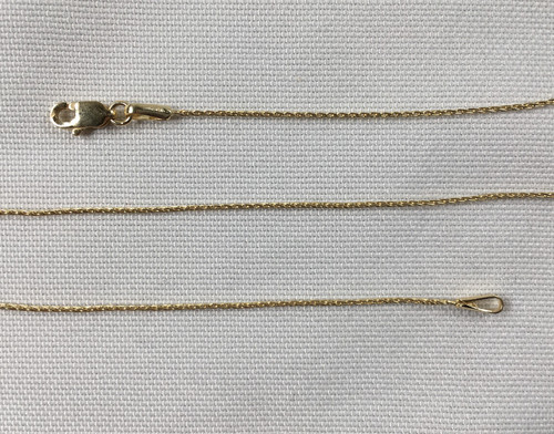 """14k Gold Russian Rope .8mm 16"""""""