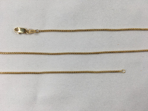 """Gold-Plated Sterling Silver 925 Chain 24"""""""