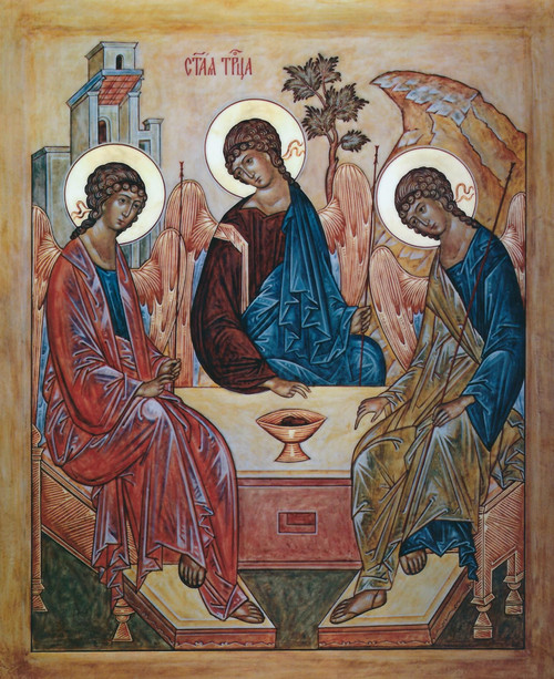 Old Testament Holy Trinity Mounted Jordanville Icon