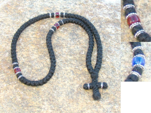 SP 100-knot Greek Wool Prayer Rope with Accents