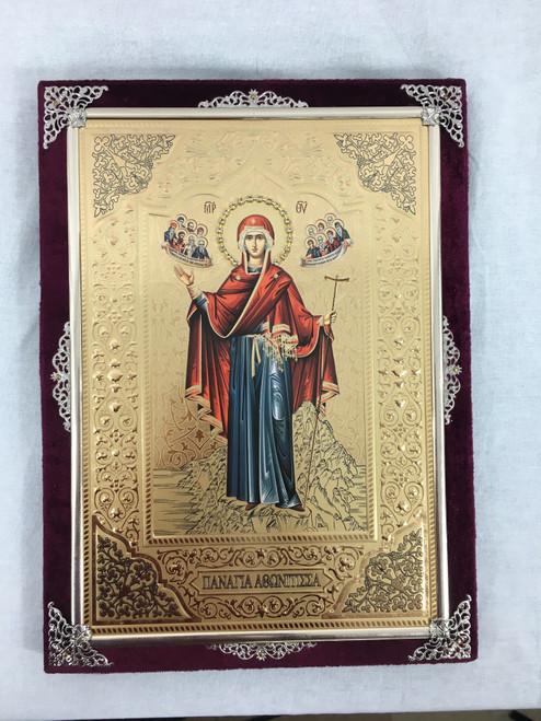 Theotokos - Abbess of Mount Athos - Velvet