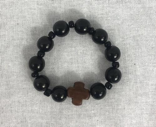 10- knot Black Stone Prayer Rope