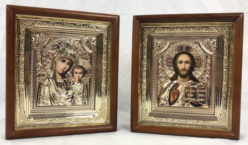 Icons in a Wooden Frame Small
