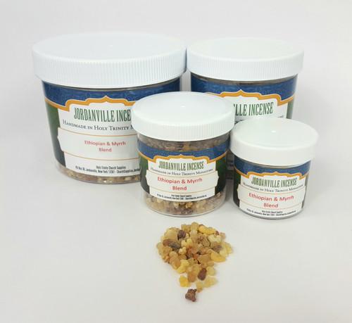 Jordanville Natural Incense - Ethiopian and Myrrh Frankincense Blend