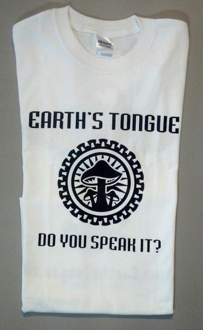 Earth's Tongue White T-Shirt w/ Black Design