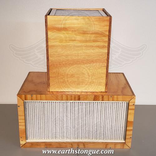 24 X 12 Laminar Flow Hood with custom Pre-Filter Box. Portable Sterile Air. Mycology Flow Hood.