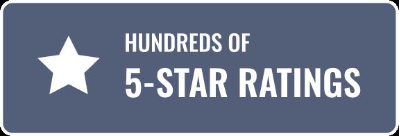 Hundreds of 5-Star Ratings
