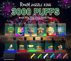 R AND M DAZZLE KING 3000 PUFF