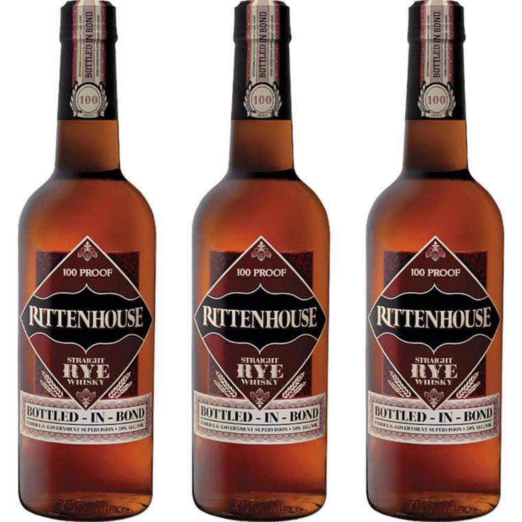 Rittenhouse Stright Rye Bottled in Bond Whiskey 750 ml
