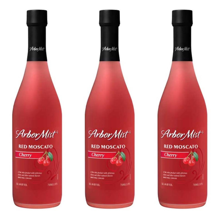 Arbor Mist Cherry Red Moscato Wine 750 ML