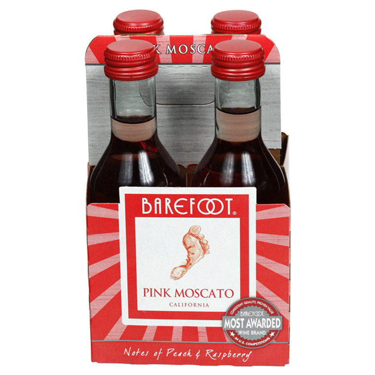 Barefoot Red Moscato Wine 187 ml 4 pack