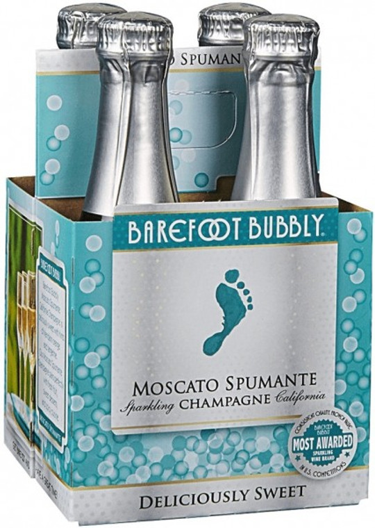 Barefoot Bubbly Moscato Spummante 4 Pack 187ml