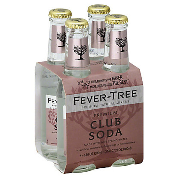 Fever Tree Spring Club Soda 200 ml 4 Pack