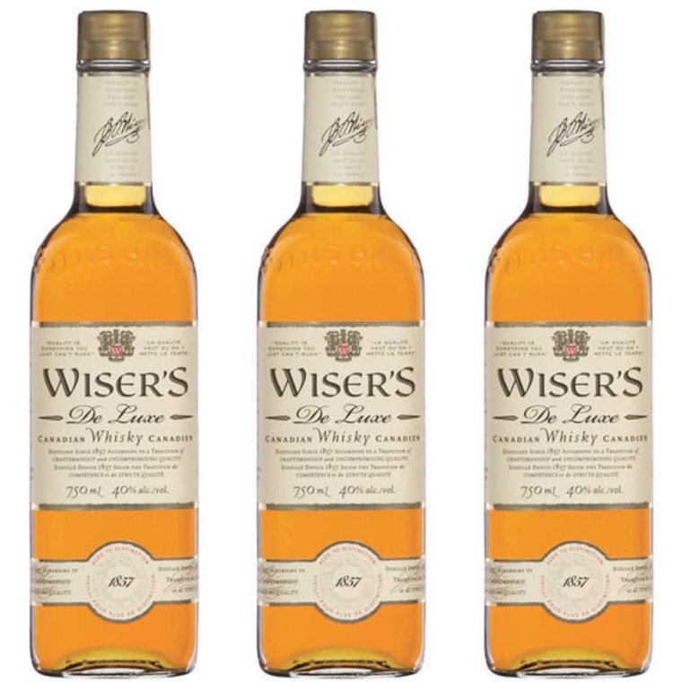 Wiser's De Luxe Canadian Whiskey 750 ml