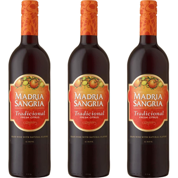 Madria Sangria Tradicional Fresh Citrus Wine 750 ml