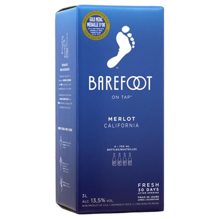 Barefoot Merlot Wine 3 L