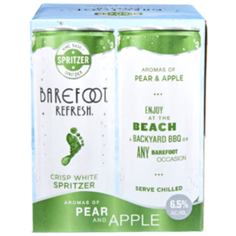 Barefoot Refresh White Spritzer - 4pk / 8.4 Fl Oz Cans