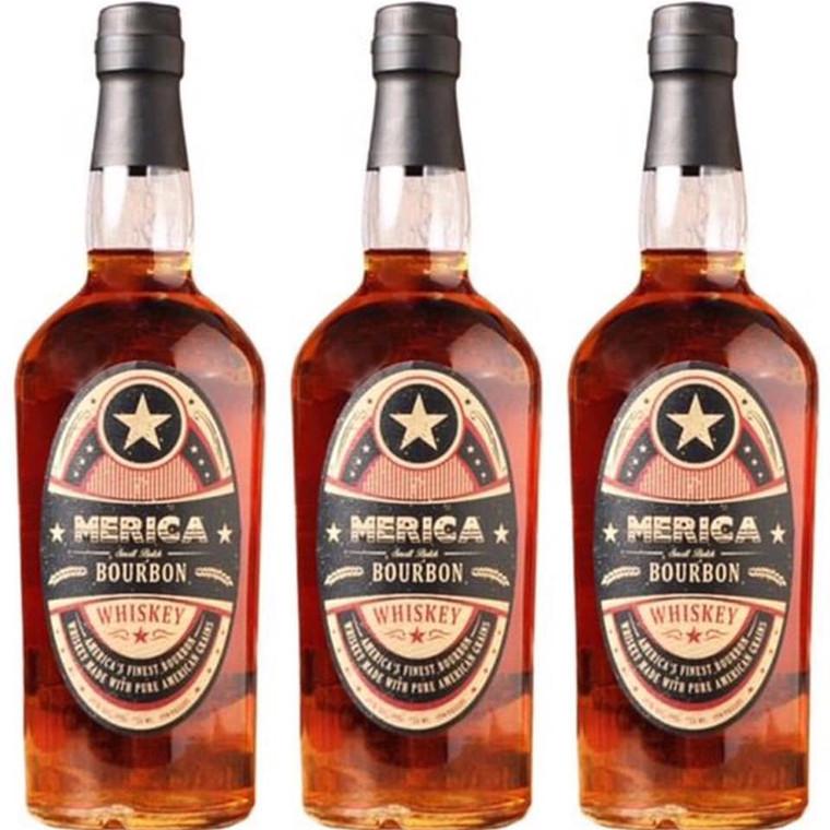 Merica Small Batch Bourbon Whiskey 750 ml