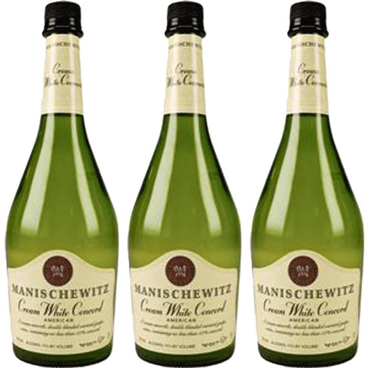 Manischewitz Cream White Concord Wine 750 ml