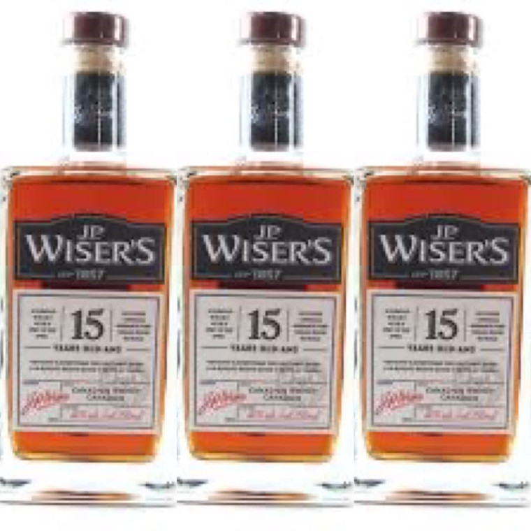 J.P WISER'S 15 YEAR OLD CANADIAN WHISKEY 750 ML