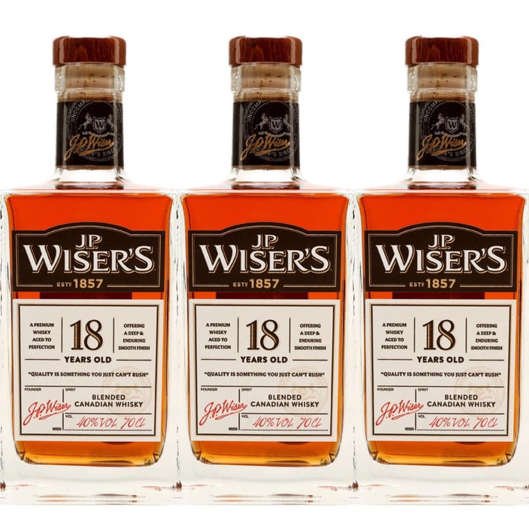 J.P WISER'S 18 YEAR OLD CANADIAN WHISKEY 750 ML