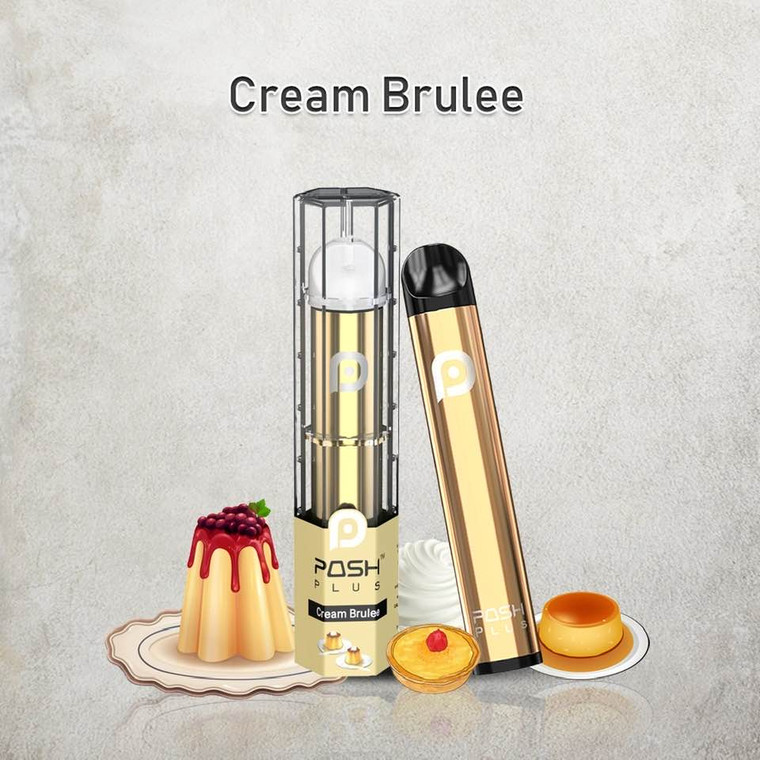 POSH PLUS CREAM BRULEE DISPOSABLE E-CIGRETTE 500 PUFF