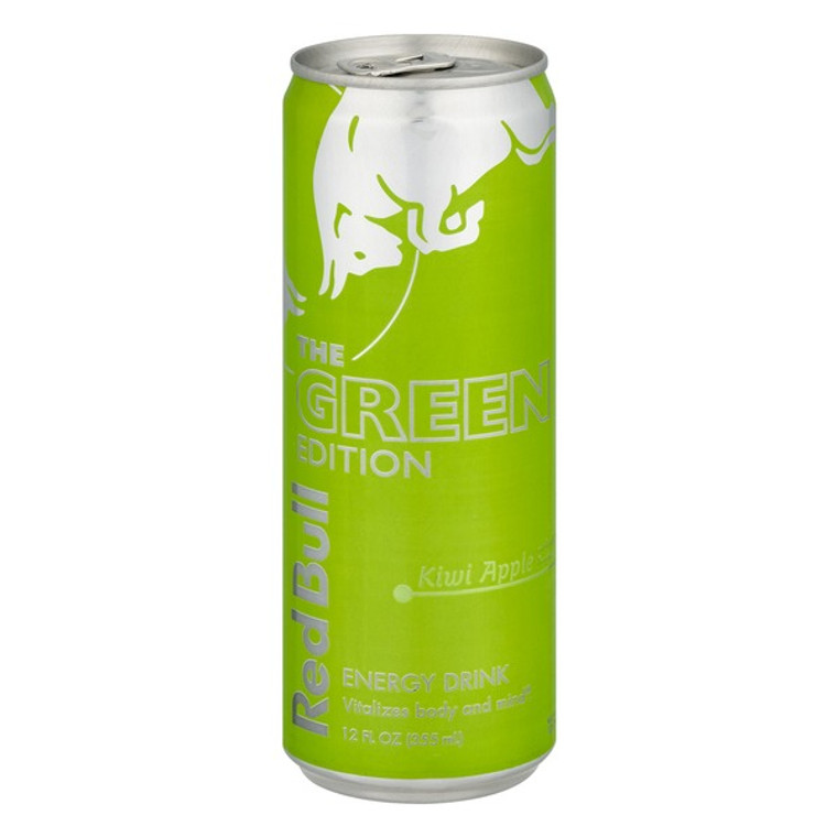Red Bull The Green Edition Kiwi Apple 12 Oz Can