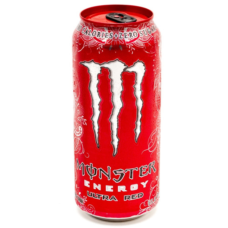 Monster - Energy Drink - Ultra Red - 16 Oz Can