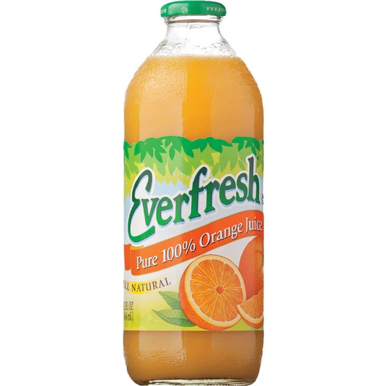 Everfresh Pure 100% Orange Juice - 32 Oz Bottle