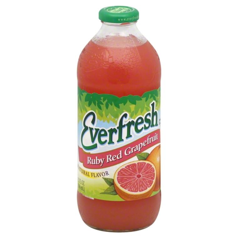 Everfresh Ruby Red Grapefruit Juice, 32 Oz. Bottle