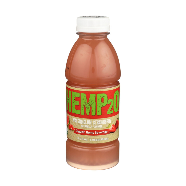 Hemp2o - Watermelon Strawberry 16.9 Oz Bottle