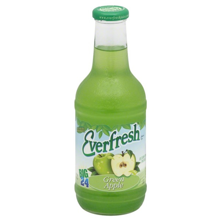 Everfresh Juice Drink, Green Apple 24 Oz Bottle