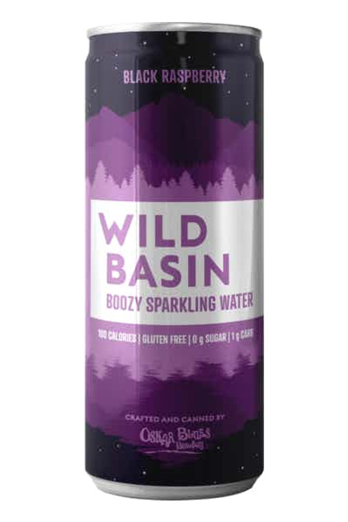 Wild Basin Black Raspberry Boozy Sparkling Water 12 Oz / 12 Pack Can