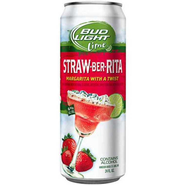 Bud Light Lime Straw-Beer-Rita Beer, 24 Oz Can