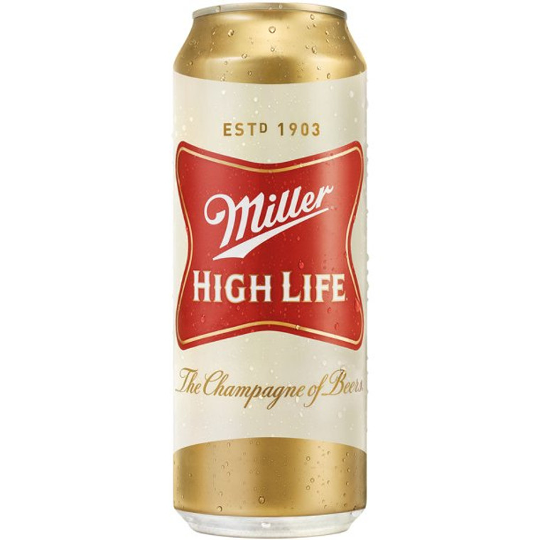 Miller High Life Beer American Lager 24 Oz Can