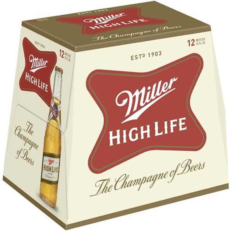 Miller High Life Beer American Lager 12 Oz / 12 Pack Bottle