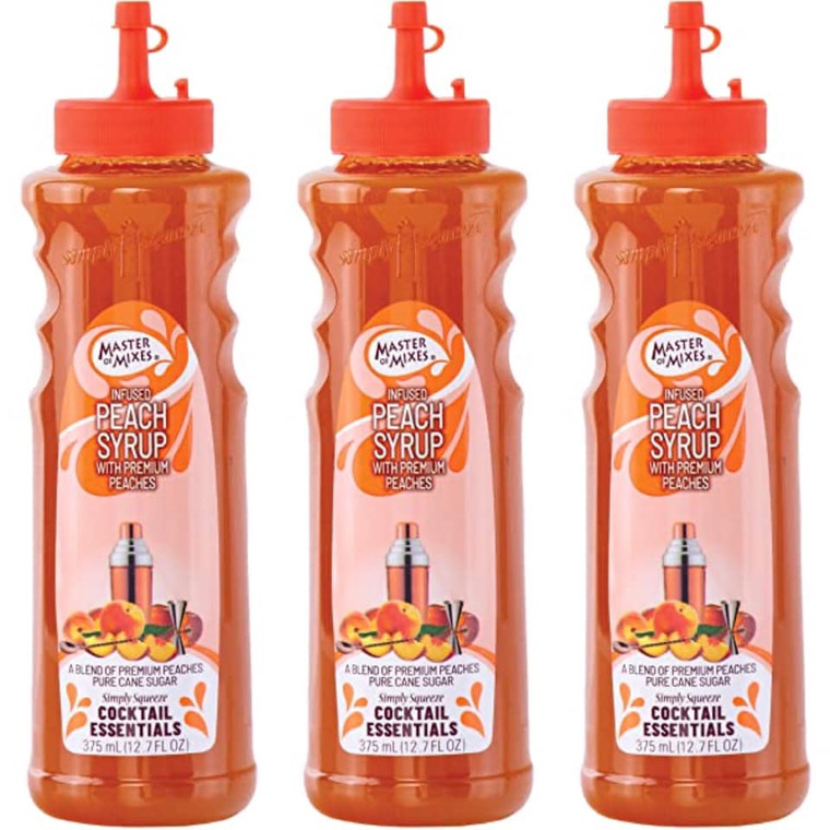 MASTER OF MIXES INFUSED PEACH SYRUP 375 ML